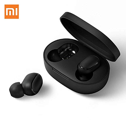 Mi AirDots Wireless Headphones BT 5.0 TWS with Wireless Charging case 12hrs Battery Life(Black)