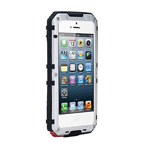 Für iPhone SE 5SE 5 5S Wasserdichte Hülle Outdoor Stoßfest Unterwasser Full Sealed Tasche Hülle Transparente Clear Waterproof Backcover IP68 Zertifizierung Staubdicht Schneedicht Schutzhülle