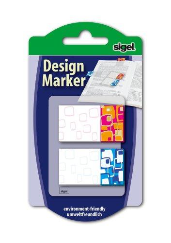 sigel-hn504-haftmarker-design-retro-2-farben-40-streifen-im-format-45-x-25-mm