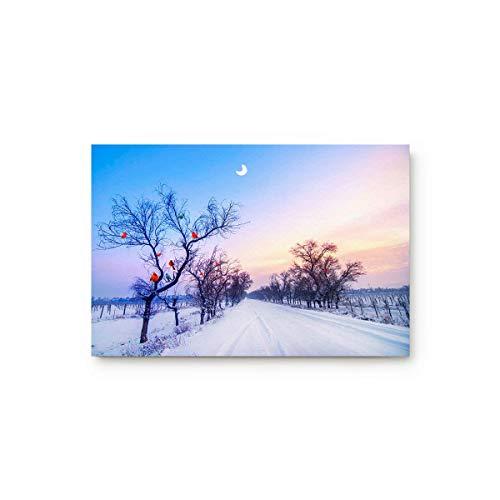 LIS HOME Winter Schnee gefrorener Baum hohe kalte Länder zu Hause Bad Dusche Schlafzimmer Matte WC Boden Fußmatte Teppich Teppich Pad Fußmatte (Land-haus-bad-teppich)