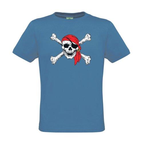 Ethno Designs Kinder T-Shirt Red Bandana Skull regular fit, Größe 110/116, (Mädchen Shirts Piraten T Für)