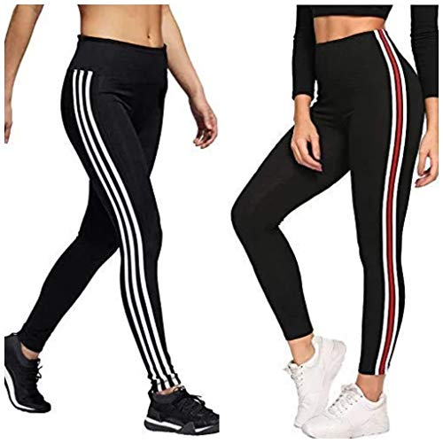 92c463b8784838 All Comfort Gym wear Leggings Ankle Length Free Size Combo Workout Trousers  | Stretchable Striped Jeggings