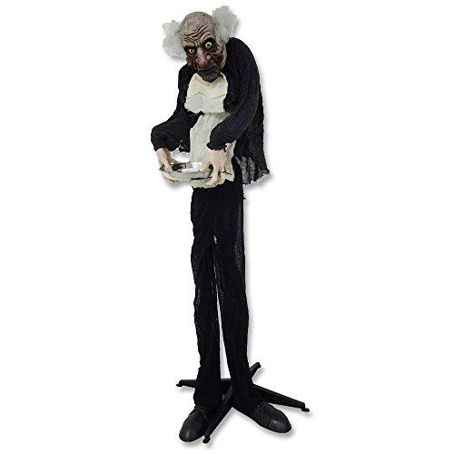 Halloween-Butler Zombie »Volker« mit Licht und Sound 153 cm Halloween Butler Zombie Licht Sound Bewegung Figur Dekoration (Figuren Animierte Halloween)