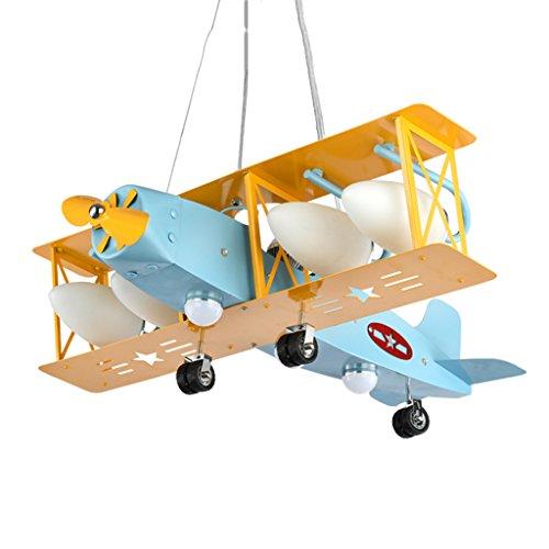 Kronleuchter Decken Pendelleuchte Kinderzimmer Flugzeug Schlafzimmer Auge Deckenleuchte Decke Kinderbett Mobile Lampe (Color : Blue, Size : 70 * 68 * 96cm)