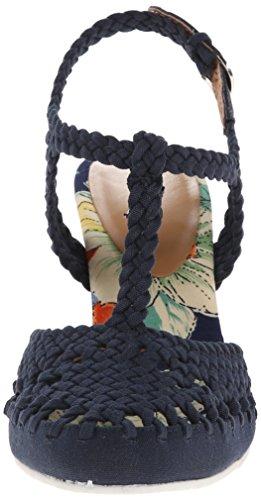 Nina Matrix Toile Sandales Compensés Navy