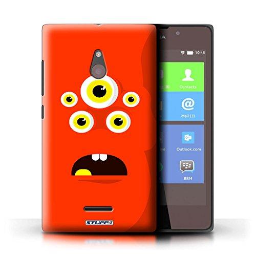 Kobalt® Imprimé Etui / Coque pour Nokia XL / Vert conception / Série Monstres Rouge