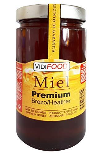 Miel de Brezo Premium - 1kg - Producida en España - Alta Calidad, tradicional & 100{fadb42f1c801357ee6b2d09e42763dd6d40d589f326985bd01b279c476f4e58a} pura - Aroma Intenso y Sabor Rico y Dulce - Amplia variedad de Deliciosos Sabores