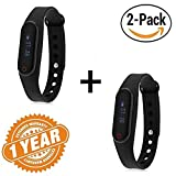 (Pack Of Two New Smart Bracelet) Product Description This smart bracelet is a sports bracelet for sports lovers and fitness freakers.Little Black Smart Band Bracelet with Heart Rate monitor, Bluetooth 4.0, alarm, call functioning, etc.when you wear t...