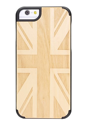 """eimo Apple iPhone 6 Plus 5.5"""" Original Cover Case bois avec bords noirs et d'absorption des chocs Couche pour iPhone 6 Plus 5.5 pouces-38 31"""