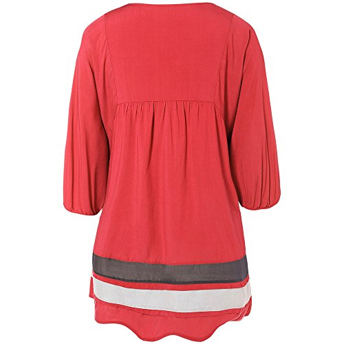 ZAFUL - Robe - Trapèze - Femme rouge pastèque