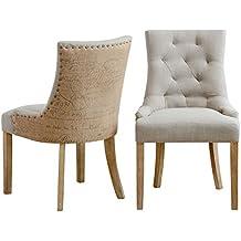 Amazon.es: sillas de comedor tapizadas en tela
