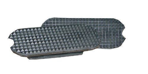 Amesbichler Steigbügeleinlagen 12 cm schwarz | Gummi Einlagen für Steigbügel