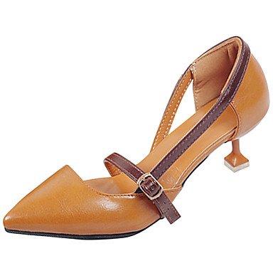 LvYuan-ggx Da donna Tacchi PU (Poliuretano) Estate Footing Più materiali A stiletto Beige Marrone 5 - 7 cm beige