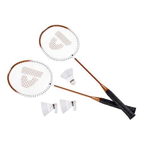 6 Teilig Badminton-Set Badminton Set 2x Bädmintonschläger Badminton-Schläger-Set mit 3x Federball Bälle 1x Tasche auch für Kinder