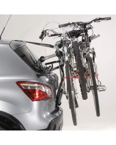 Mottez A025PCR Portabicicletas, Gris, 3 Bicicletas