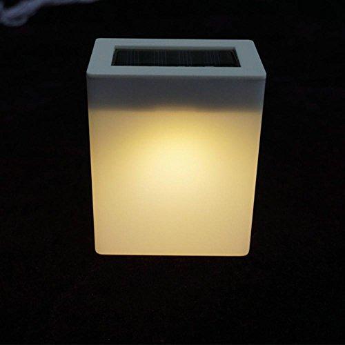 Zhen+ Rechteckigen LED Solar Leuchte, Solar Wireless Wandleuchte, 1,2V Solar Lichter Lampe Energiesparlampen Außenleuchte, Perfekt für Garten Balkon Terrasse Garten-Wand-Pfad-Yard-Landschaftslicht -