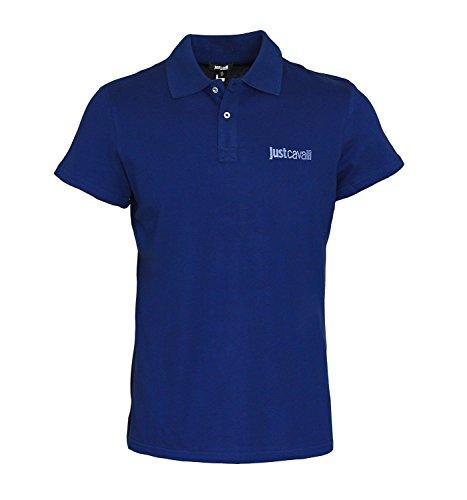 Just Cavalli Designer Polo Shirt B47 Shirts 6 Farben (M (48), Navy Blau)