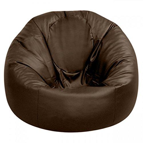 Bean Bag Bazaar - Puf XXL (Piel sintética), Color Negro