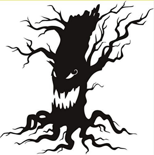 Zfkdsd Spukender Baum Scary Halloween Wandaufkleber Knurren Saisonale Home Decor Art Decals Ungiftig Pvc Tapete Hohe Qualität Wandbild 84 * 84 Cm