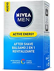 NIVEA MEN Active Energy Q10 Bálsamo After Shave, Doble Acción ...