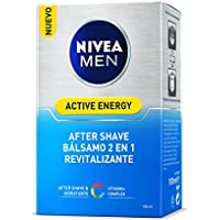 Nivea Men Active Energy Q10 Bálsamo After Shave, Doble Acción - 100 ml