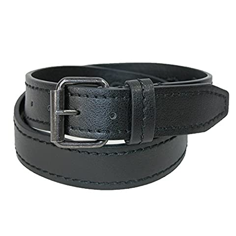 CTM Big and Tall Leather Money Belt, 50, Black