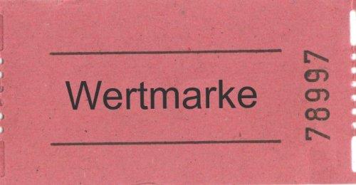 Preisvergleich Produktbild Rollen-Gutscheine Wertmarke, 1000 Abrisse, rot