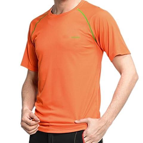 WALK-LEADER - T-shirt de sport - À logo - Manches Courtes - Homme - orange - X-Large