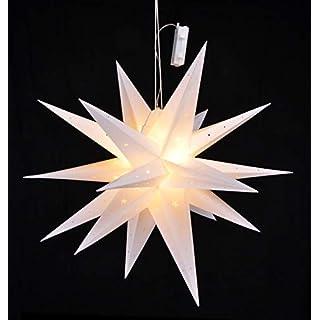 LED Weihnachtsstern 58 cm mit Auto Timer - Batterie betrieben - LED Stern zu Weihnachten zum aufhängen Fensterdeko