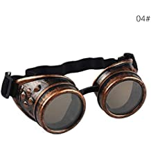 ddellk Gafas Steampunk, Gafas Vintage de Moda Punk para soldar Cosplay Gafas de Sol a