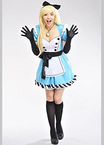 8in1 Damen Deluxe Blau Alice Kostüm mit Charme XS (UK6-8)
