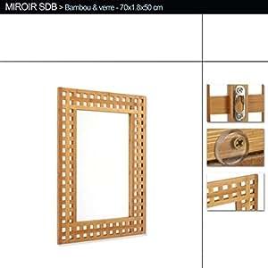 miroir de salle de bain en bambou cuisine maison