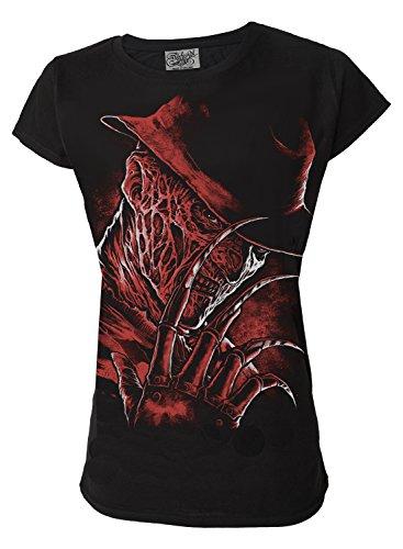 Inspired By Freddy Krueger Nightmare On Elm Street Horror Movie Genuine Darkside Womens T Shirt