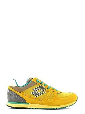 LOTTO R7024 TOKYO SHIBUYA MAPO/YLW SPI sneakers uomo camoscio e tela - Giallo, EUR 46