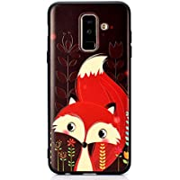 Ultra Dünn Slim Anti-Rutsch Flexible Handyhülle 3D Flower Animal Cartoon Kreative Soft Licht Gel Gomma TPU Silikon Schutz Handy Hülle Case Tasche Etui Bumper für Samsung A6 2018