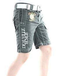 Solamode - Muchacho corto con el gris oscuro de correa - geográfica Noruega - tablero chico - moda-