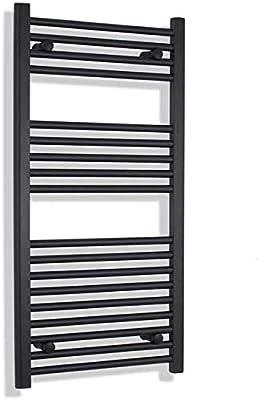 Myhomeware - Toallero radiador (500 mm de Ancho, 800 mm de Alto), Color Negro