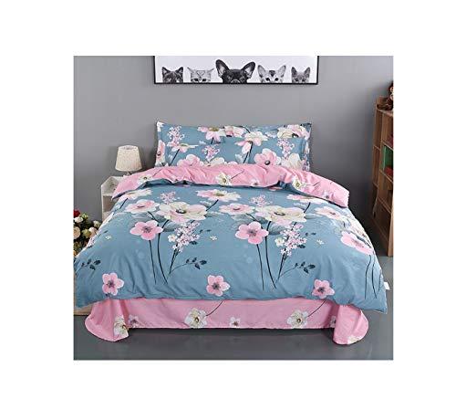 The Unbelievable Dream Bettbezug doppelseitige bettwäsche Set Baumwolle waschbar einfache niedliche Kinder Kinder Erwachsene Traum Blumen Meer a, 3