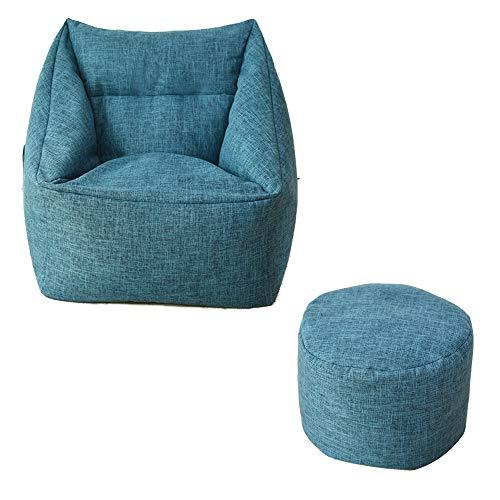 MIMI KING Sitzsack mit Fußbank Big Size Sofa und Giant Lounger Furniture Ideal für jedes...