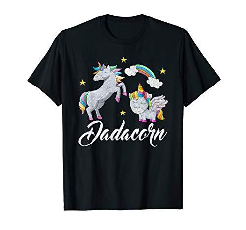 Kostüm Besten Vater Tochter - Einhorn Papa Kostüm Baby und Tochter Vatertag Geschenk T-Shirt