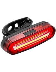 Keten Ruecklicht Fahrrad Led, Wasserfeste LED-Leuchte, Aufladbar per USB, COB, Fahrradrückleuchte mit 6 Lichtmodi für Nächtliche Radtouren
