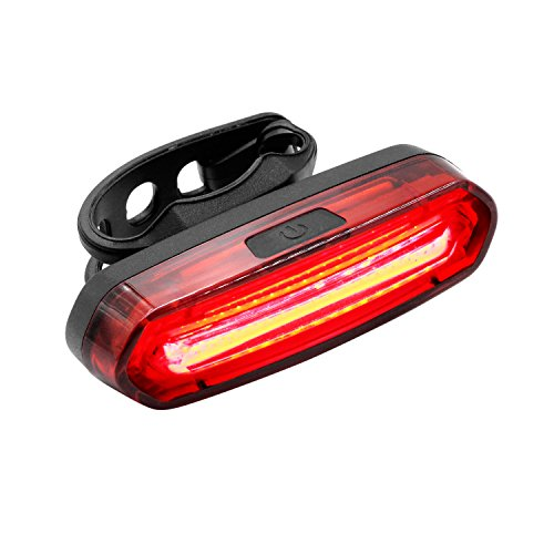 Rear Bike Light, Keten Bike Lights Front and Back Waterproof LED USB Rechargeable, Red Blue COB LED Bicycle Tail Light with 6 Lighting Modes for Night Riding Cycling