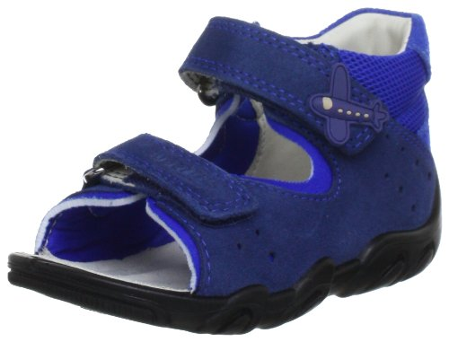 Superfit Rocky 00001188 Baby, Sandali primi passi bambino Blu (Blau (water kombi 88))