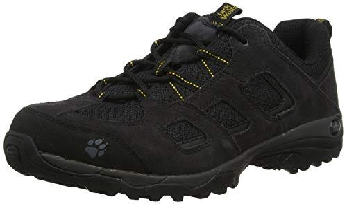 Jack Wolfskin Herren Vojo Hike 2 Low M Trekking- & Wanderhalbschuhe, Schwarz (Black/Burly Yellow Xt 6055), 47 EU