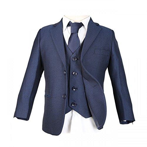 SIRRI Jungen 5 STK. Alles in eins Blau Jungen Anzug - Blau, 10 Years