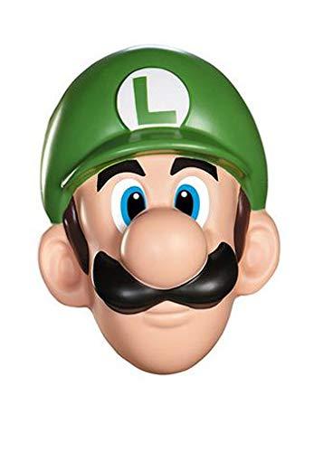 Unbekannt Super Mario 13384-Maske Luigi für Erwachsene, grün, Einheitsgröße
