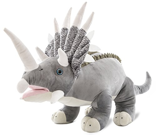 Wagner 4503 - Plüschtier XXL Dinosaurier Triceratops - 85 cm gross - Dino Kuscheltier