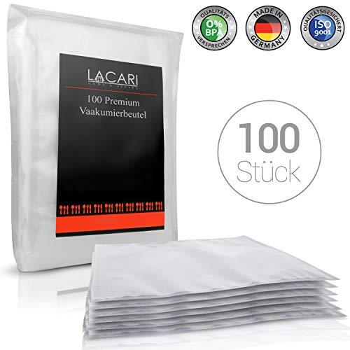 Lacari ® [100x] Vakuumbeutel - [30x40 cm] - Perfekt zum Sous Vide Garen geeignet - Vakuumierbeutel für alle Folienschweißgeräte