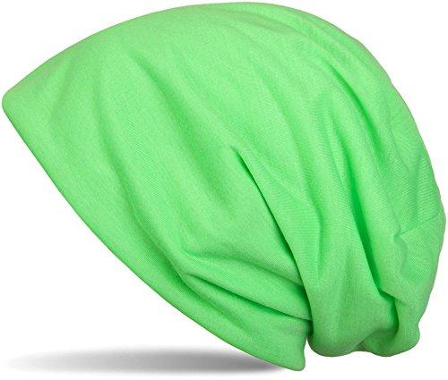 che Slouch Beanie Mütze, leicht, Unisex 04024018, Farbe:Neongrün ()