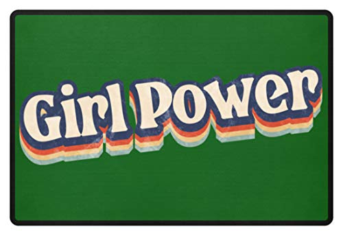 Jimbeels Girl Power   Vintage & Retro   70er Jahre Design   Feminismus   Emanzipation - Fußmatte -60x40cm-Kelly Green - 70er-jahre-kelly-grün